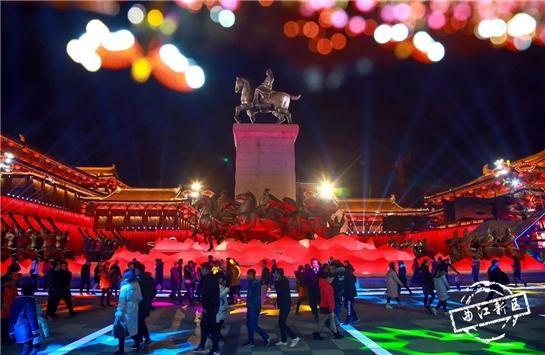 西安・大唐不夜城の夜景(写真提供:西安曲江新区管理委員会)