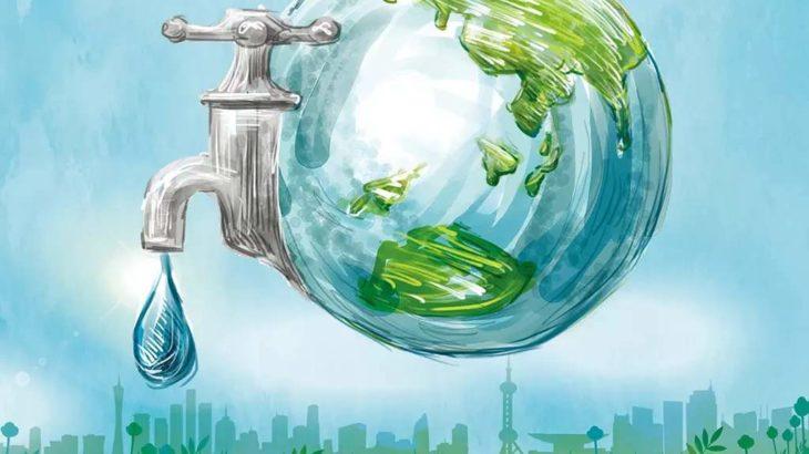 みんなで節水を 王益区で初の節水用品配付活動